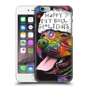 Official Christmas Mix Pets Dean Russo Pitbull Hard Back Case For Apple Iphone 6 / 6S