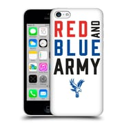 Official Crystal Palace Fc The Eagles Red & Blue Army Hard Back Case For Apple Iphone 5C