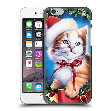 Official Christmas Mix Pets Jenny Newland Kitty Hard Back Case For Apple Iphone 6 / 6S