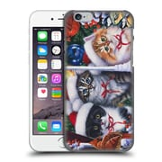 Official Christmas Mix Pets Jenny Newland Cats In Window Hard Back Case For Apple Iphone 6 / 6S