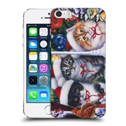 Official Christmas Mix Pets Jenny Newland Cats In Window Hard Back Case For Apple Iphone 5 / 5S / Se