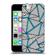 Official Project M Abstract Lines Two Tone White Electric Hard Back Case For Apple Iphone 5C