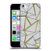 Official Project M Abstract Lines Two Tone White Gold Hard Back Case For Apple Iphone 5C