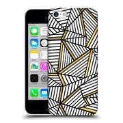 Official Project M Abstract Lines Two Tone White And Black Gold Hard Back Case For Apple Iphone 5C