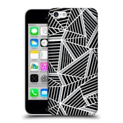 Official Project M Abstract Lines Two Tone Black Silver Hard Back Case For Apple Iphone 5C