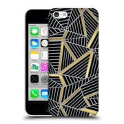 Official Project M Abstract Lines Two Tone Black Gold And Grey Hard Back Case For Apple Iphone 5C