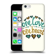 Official Pom Graphic Design Typography One Love One Heart Hard Back Case For Apple Iphone 5C