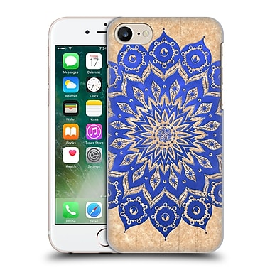Official Peter Barreda Luminous Spirit Mandalas Okshirahm Blue Parchment Hard Back Case For Apple Iphone 7