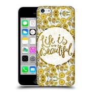Official Pom Graphic Design Typography Life Is Beautiful Hard Back Case For Apple Iphone 5C