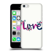 Official Pom Graphic Design Typography Love Hard Back Case For Apple Iphone 5C