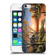 Official Chuck Black Cabin An Autumn Sunset Hard Back Case For Apple Iphone 5 / 5S / Se