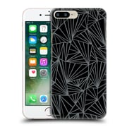 Official Project M Abstract Fan Black And Grey Hard Back Case For Apple Iphone 7 Plus