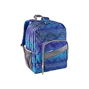 L.L.Bean Deluxe Book Pack Backpack, Geometric, Periwinkle Sky Chevron (0TXW712000)