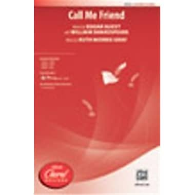 Alfred Call Me Friend words by Edgar Guest (LFR50644)