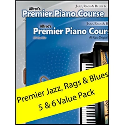 Alfred Premier Piano Course Jazz, Rags &