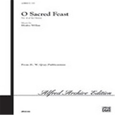 Alfred O Sacred Feast No. 4 of Six Motets (LFR2546)