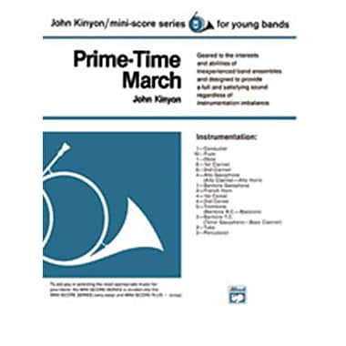 Alfred Prime-Time March - Conductor Score (LFR578)