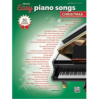 Alfred Alfreds Easy Piano Songs - Christmas