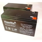 PowerStar 12V 7Ah APC Smart-Ups RBC5 Replacement Battery Kit - Pack of 2 (BTJK9206)