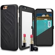 Youphorea Luxury Italian Design Women Iphone 5 Case with Hidden Mirror & Wallet, Black(YPRH1144)