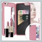 Youphorea Luxury Italian Design Women Iphone 5 Case with Hidden Mirror & Wallet, Pink(YPRH1140)