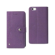 Reiko Apple iphone 6 & 6S Plus Wallet Case with Slide Out Pocket & Fold Stand, Purple(RKWL12106)