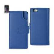 Reiko Apple iphone 6 Plus Genuine Leather Wallet Case with Open Thumb Cut, Ultramarine(RKWL12137)