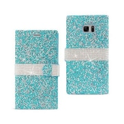 Reiko Samsung Galaxy Note 7 Jewelry Rhinestone Wallet Case, Blue(RKWL11886)