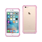 Reiko Apple iphone 6 Mirror Effect Case with Air Cushion Protection, Clear & Hot Pink(RKWL12559)