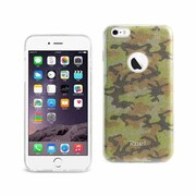 Reiko Apple iphone 6 & 6S Plus Shine Glitter Shimmer Camouflage Hybrid Case, Camouflage Yellow(RKWL11918)
