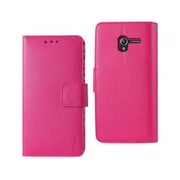Reiko Alcatel Tru Wallet Case with Inner Zebra Print, Hot Pink(RKWL12035)