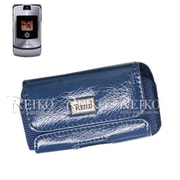 Reiko Horizontal iphone Pouch Case, Navy - 4.8 x 2.7 x 0.5 in.(RKWL12274)