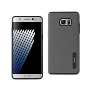 Reiko Samsung Galaxy Note 7 Solid Armor Dual Layer Protective Case, Gray(RKWL12461)