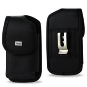 ReikoWireless Vertical Rugged Pouch 2XL Cell Phone with Cover, Black(RKWL12937)