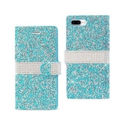 Reiko Apple iphone 7 Plus Jewelry Rhinestone Wallet Case, Blue(RKWL11848)