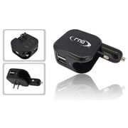 RND Accessories Dual Use Dual Port 2.1A USB Car Charger & Wall Charger - Black(RNDP233)