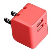 Pilot Automotive 12W Home Dual USB Power Charger, Red(PTAM0403)