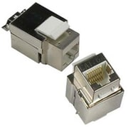 Cable Wholesale Shielded Cat6a Keystone Jack, RJ45 Female to 110 Punch Down(RTL51853)