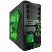 Apevia 2 No Power Supply ATX Mid Tower Case, Black & Green(MBCASNIP2G)