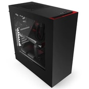 NZXT No Power Supply ATX Mid Tower Case, Black & Red(MBCA-S340GR2)