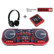 FIRST AUDIO MANUFACTURING USB DJ MIDI Controller with Headphones and External Sound Interface(TBALL10428)