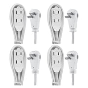 GE 2-outlet Wall Hugger Extension Cord, 6ft., 4 Pack (50360)