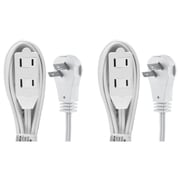 GE 2-outlet Wall Hugger Extension Cord, 6ft., 2 Pack (50360)