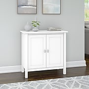 """Bush Furniture Broadview 30"""" Accent Storage Cabinet with 2 Shelves, Pure White (BDS131WH-03)"""