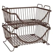 Spectrum Diversified Ashley Stackable Basket Tray, Bronze (20024SDD)