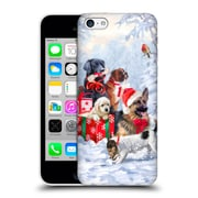 OFFICIAL THE MACNEIL STUDIO CHRISTMAS PETS Dogs Hard Back Case for Apple iPhone 5c (9_E_1D547)