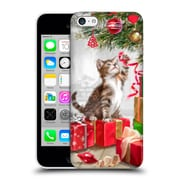 OFFICIAL THE MACNEIL STUDIO CHRISTMAS PETS Kitten With Ribbon Hard Back Case for Apple iPhone 5c (9_E_1D542)
