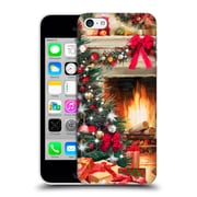 OFFICIAL THE MACNEIL STUDIO CHRISTMAS TREE Fireplace Hard Back Case for Apple iPhone 5c (9_E_1D548)
