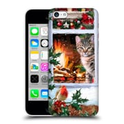 OFFICIAL THE MACNEIL STUDIO CHRISTMAS PETS Tabby Cat Hard Back Case for Apple iPhone 5c (9_E_1D544)