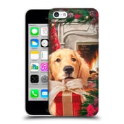 OFFICIAL THE MACNEIL STUDIO CHRISTMAS PETS Red Gift Hard Back Case for Apple iPhone 5c (9_E_1D543)